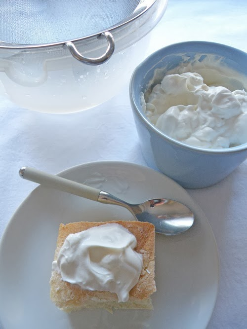 Il mio formaggio homemade di yogurt