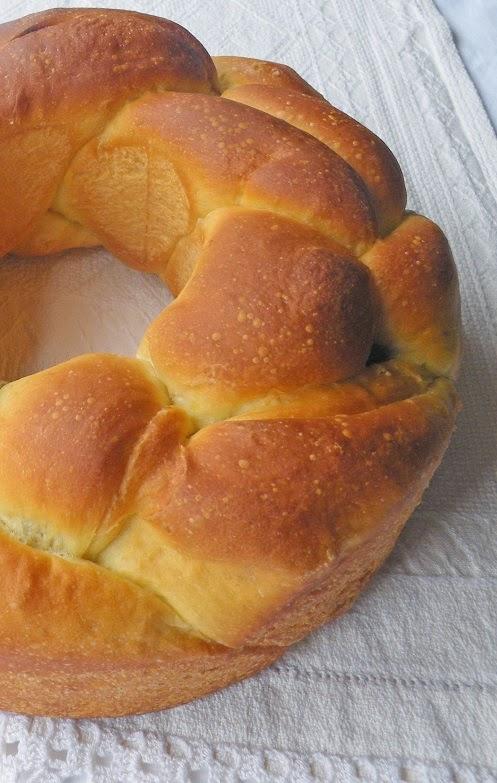 corona di pan brioche senza burro
