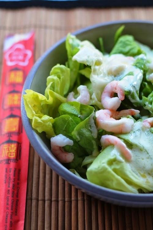 Insalatina cinese agrodolce di gamberetti