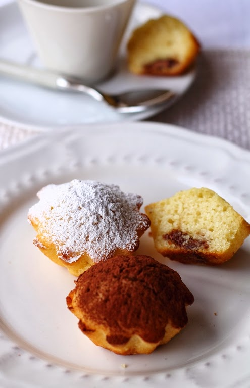 Muffin patate con cuore di cioccolato