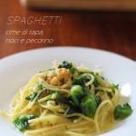 Spaghetti cime di rapa, noci e pecorino…e premi