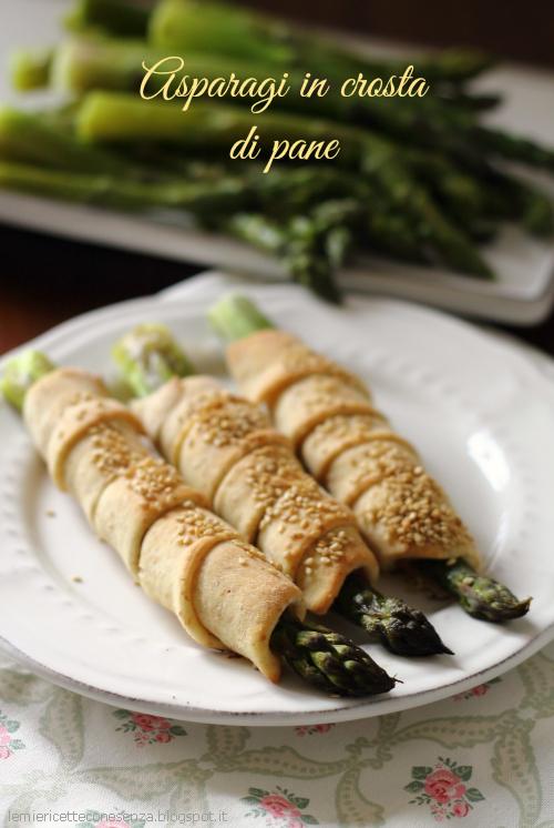 Asparagi verdi in crosta