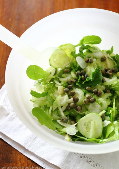 Insalata verdure verdi