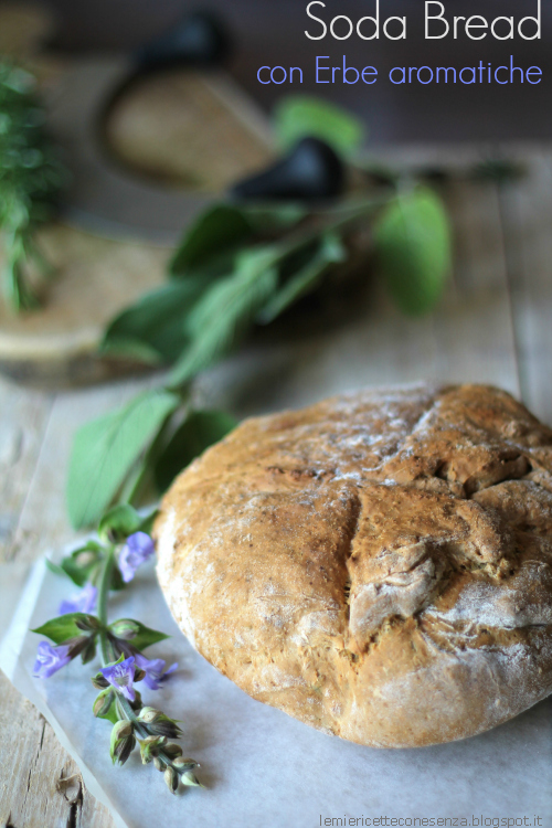 Soda Bread con Erbe aromatiche – Irish Soda bread with fresh herbs