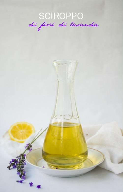 Sciroppo di fiori freschi di lavanda e limone