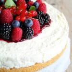 Cheesecake ai frutti di bosco e cocco senza cottura e senza colla di pesce