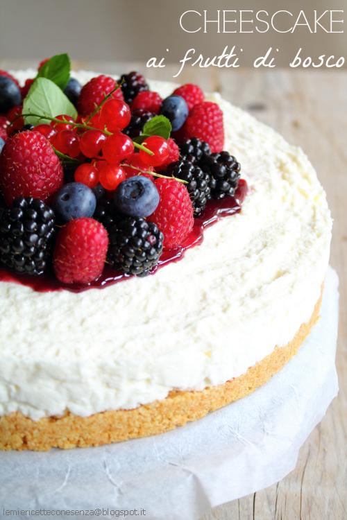 Cheesecake senza colla di pesce
