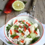 Potato salad con foglioline di portulaca