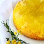 Torta rovesciata all'ananas all'extravergine del Garda