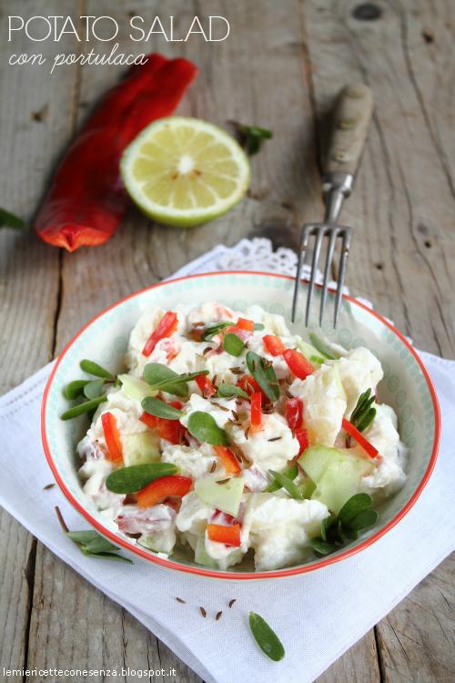 Potato salad con portulaca