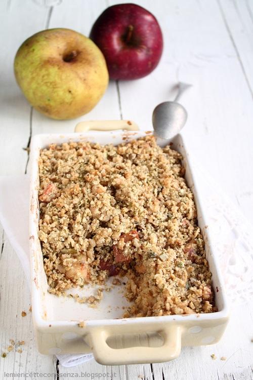 Crumble vegan di mele