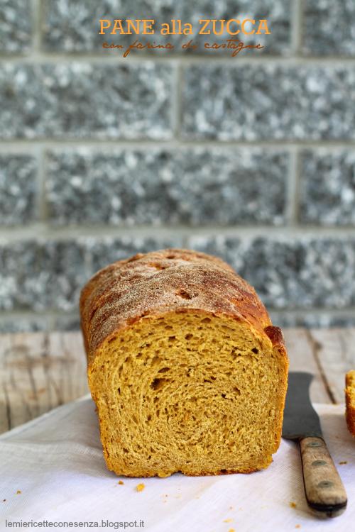 Pane soffice autunnale con zucca e farina di castagne