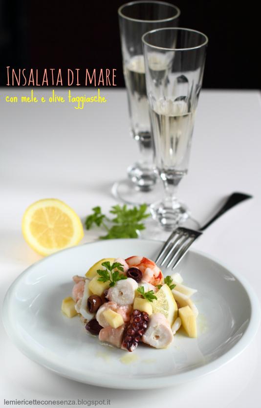 Insalata di mare con mele e olive taggiasche