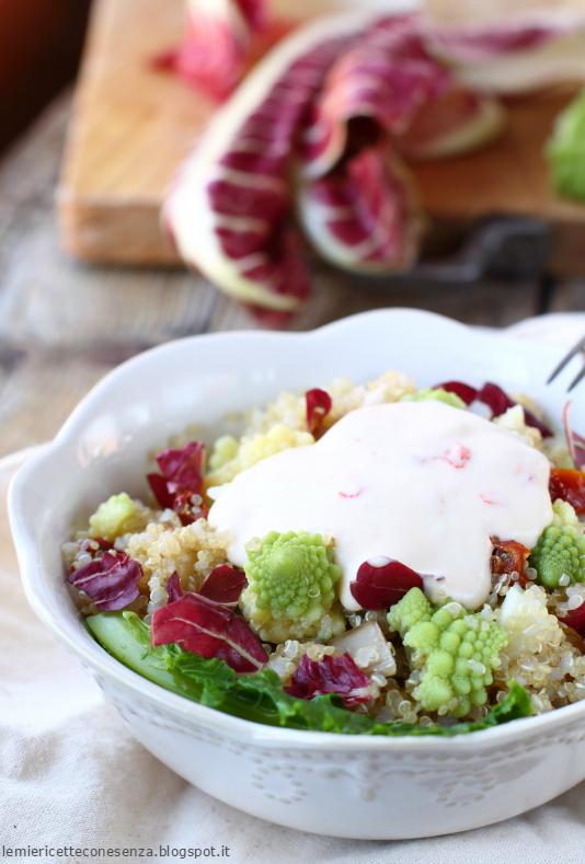 Insalatina di quinoa con broccolo romanesc