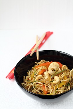 noodles di grano piccanti