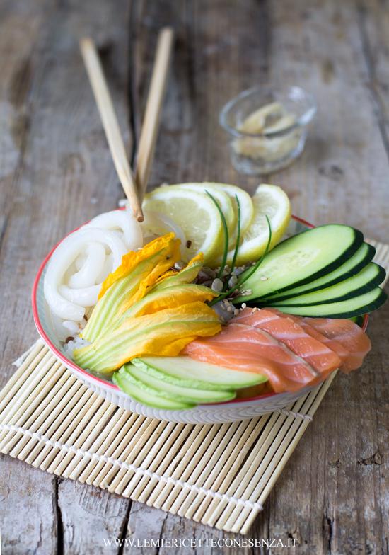 Chirashi Sushi ovvero sushi sparpagliato a modo mio