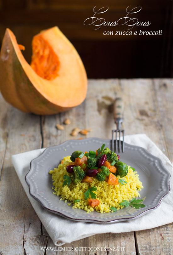 Cous cous al curry con zucca, broccoli, cavoletti di Bruxelles e fagioli rossi e …