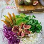 Insalata arcobaleno con vinaigrette al balsamico