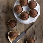 Muffin senza lattosio al cacao