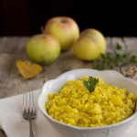 Risotto con le mele al curry
