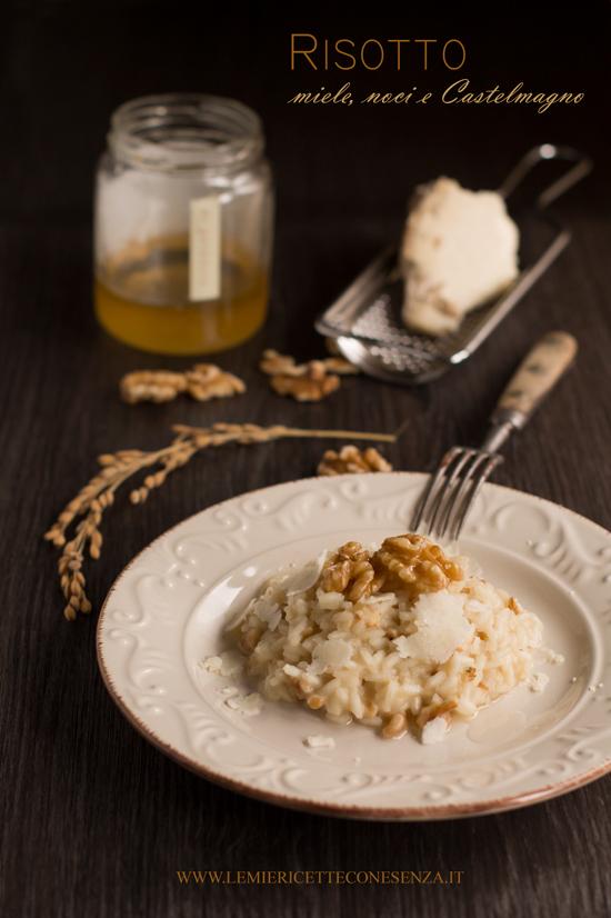 Risotto al Castelmagno con miele e noci