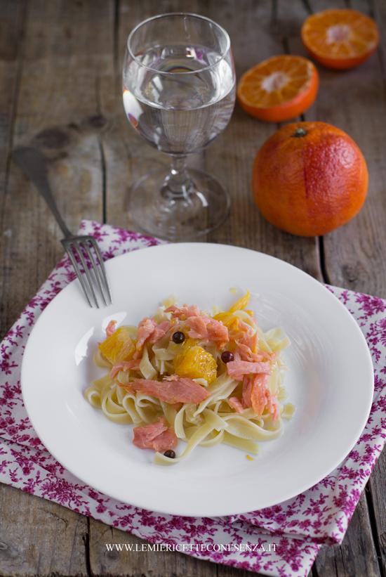 tagliatelle arancia salmone