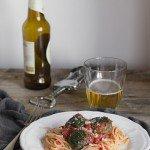 Spaghetti con polpette vegetariane