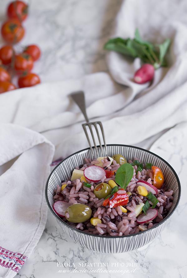 ricetta insalata di riso nero