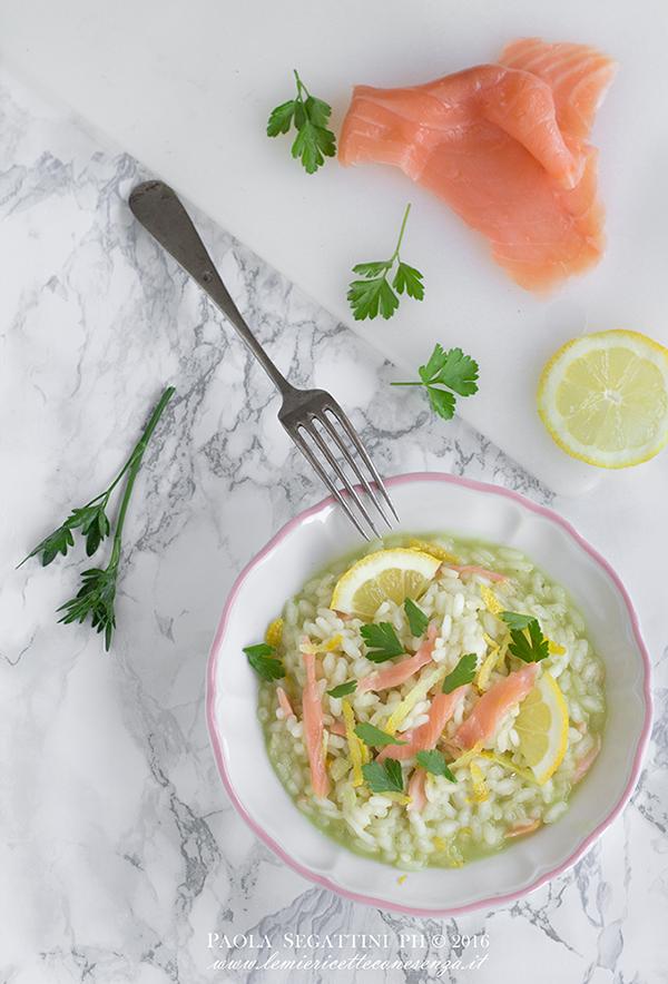 risotto al salmone affumicato e limone