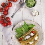 Tacos con carne di manzo e guacamole