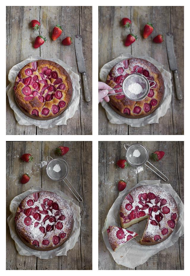 torta allo yogurt e fragole 2
