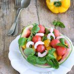 Insalata di anguria e gamberetti