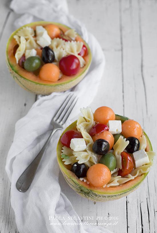 insalata di pasta con melone