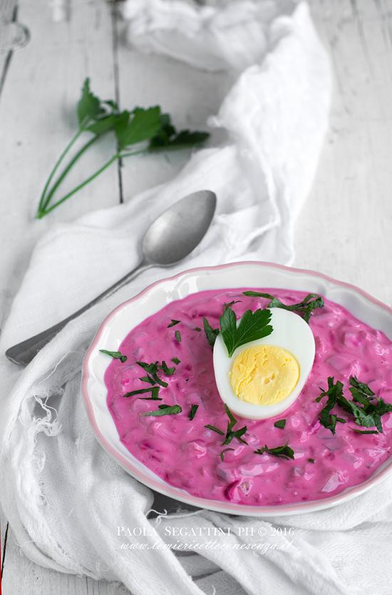 Zuppa fredda di barbabietole rosse