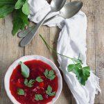 """""""Zuppa detox di barbabietole rosse con funghi e cavolo"""" per il numero O di iFoodStyle"""