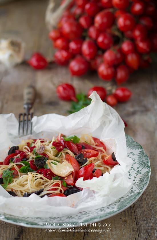 spaghettini al cartoccio