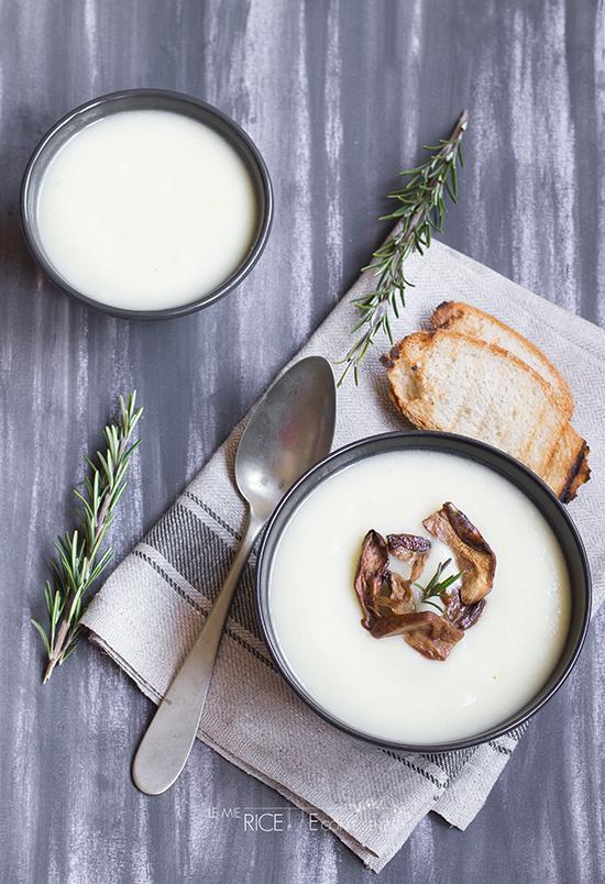 Le mie ricette con cavolfiore: vellutata di cavolfiore con porcini e rosmarino