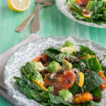 Insalata di spinaci crudi con citronette ai semi oleosi