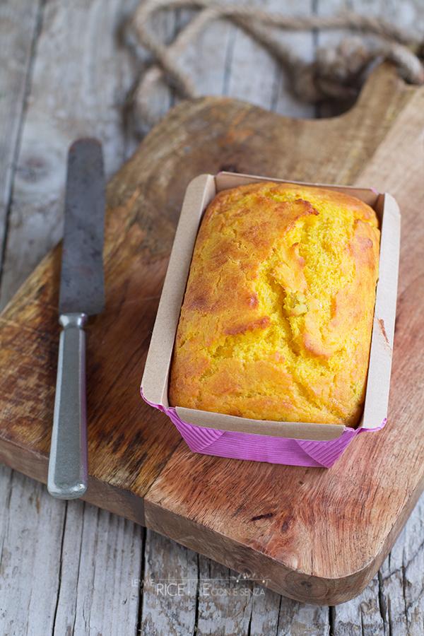 Plumcake alla zucca con formaggio grana