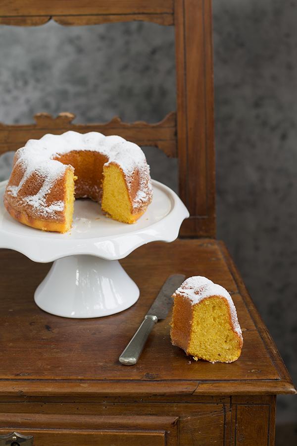 torta soffice alla zucca leggermente speziata