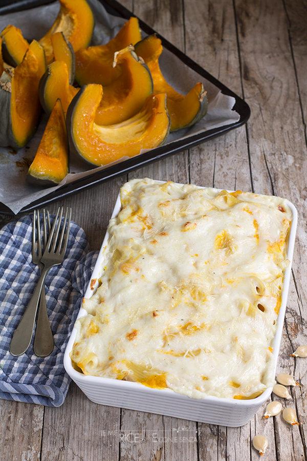Pasta al forno alla zucca con besciamella