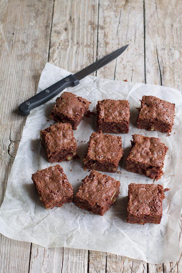 Brownies velocissimi al cioccolato fondente e noci