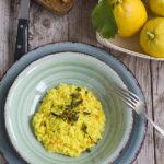 Risotto alla curcuma fresca e limone