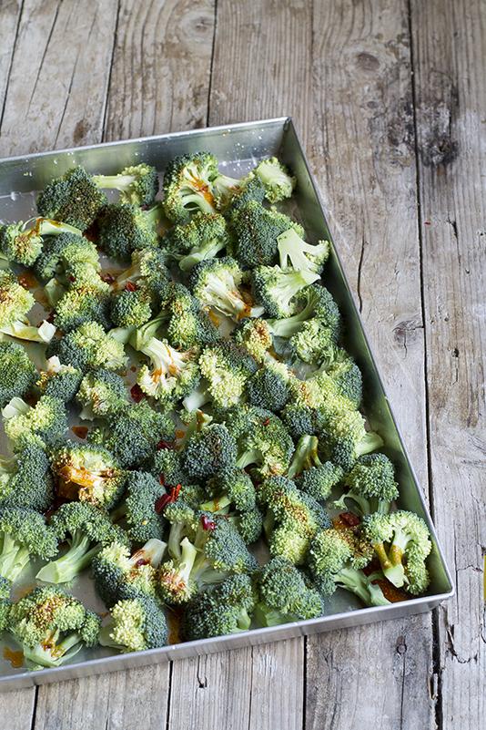 Broccoli speziati al forno