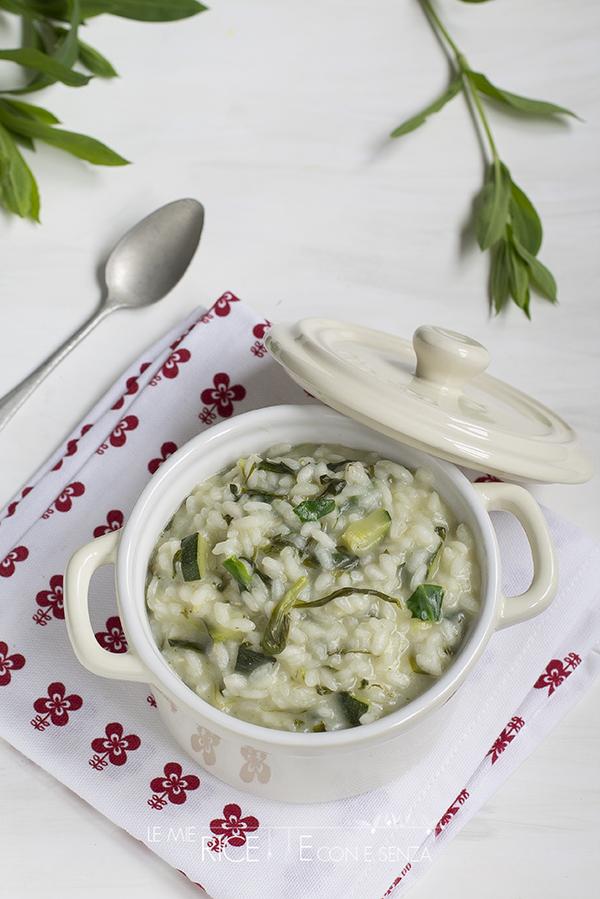 Risotto con zucchine e silene (carletti)