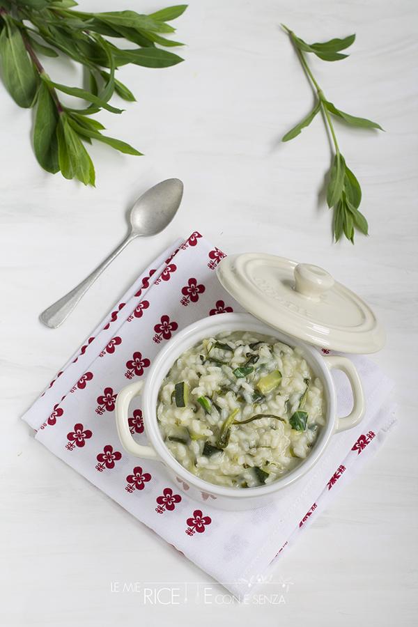 risotto con zucchine e silene (carletti).